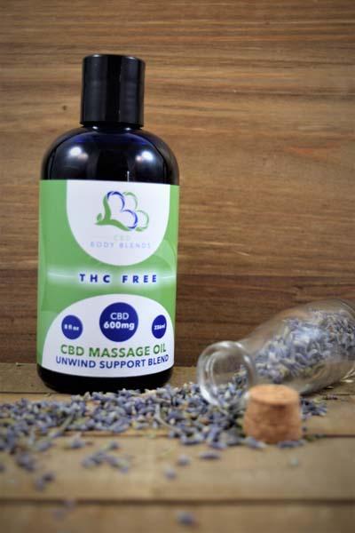 CBD Massage Oil - Unwind Support Blend