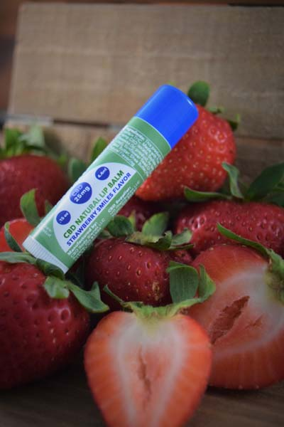 CBD Natural Lip Balm - Strawberry Smiles